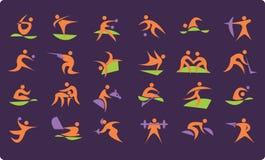 De Olympische pictogrammen van de zomer Stock Fotografie