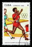 De `-Olympische Spelen, de kwestie van Barcelona 1992 ` tonen het Lopen, circa 1990 Royalty-vrije Stock Foto's