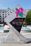 De Olympische Spelen Londen 2012 van de Klok van de aftelprocedure Stock Fotografie