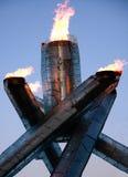 De Olympische Vlam van Vancouver Stock Afbeeldingen