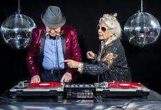 De oma en de opa van DJ Stock Afbeeldingen