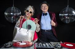 De oma en de opa van DJ Stock Foto