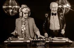 De oma en de opa van DJ Stock Afbeelding