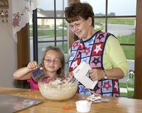 De oma heeft een helper Royalty-vrije Stock Afbeelding