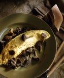 De omelet van de cantharel Stock Afbeelding