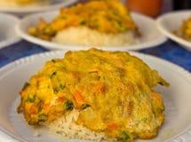 De omelet van de rijst. Stock Foto's