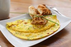 De omelet van Denver met gebraden ui Stock Afbeeldingen