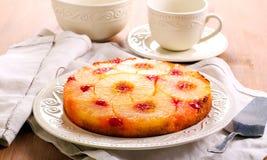 De Omgekeerde Cake van de ananas Royalty-vrije Stock Foto