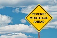 De omgekeerde Hypotheek waarschuwt vooruit Teken royalty-vrije stock foto's