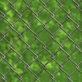 De omheining en het bos van Chainlink (Naadloze textuur) Stock Afbeeldingen