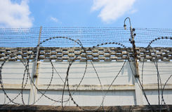 De Omheining van de gevangenis Stock Afbeeldingen