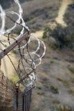 De Omheining van de Grens van de woestijn Stock Foto