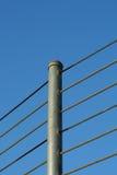 De omheining van de kabel Stock Foto's