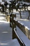 De omheining van de sneeuw Royalty-vrije Stock Afbeeldingen