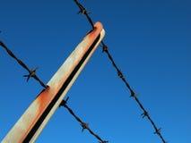 De Omheining van de veiligheid met Roest Royalty-vrije Stock Fotografie