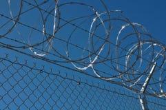 De Omheining van de Veiligheid van de gevangenis Stock Foto