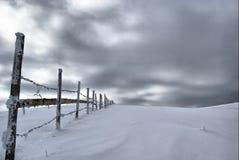 De omheining van de winter Royalty-vrije Stock Afbeeldingen