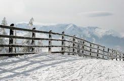 De omheining van de winter stock fotografie
