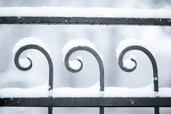De omheining van de winter Stock Afbeelding