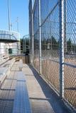 De omheining van het honkbalveld Stock Foto