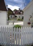De omheining van het piket - Bergen, Noorwegen royalty-vrije stock foto