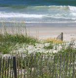 De omheining van het strand Stock Foto's