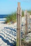 De Omheining van het strand royalty-vrije stock afbeeldingen