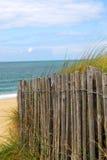 De omheining van het strand Stock Afbeeldingen