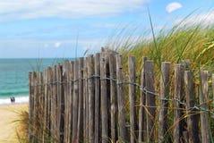 De omheining van het strand royalty-vrije stock afbeelding