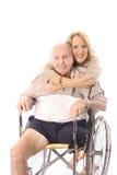 De omhelzingen van de handicap Stock Foto's