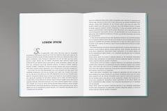 De omkering van de catalogus in A4 grootte stock afbeeldingen