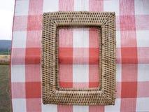 De omlijsting van het bamboeweefsel voor decoratie stock fotografie