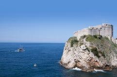 De Ommuurde Stad van Dubrovnic in Kroatië Europa Dubrovnik wordt een bijnaam gegeven `-Parel van Adriatic Stock Foto's