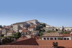 De Ommuurde Stad van Dubrovnic in Kroatië Europa Dubrovnik wordt een bijnaam gegeven `-Parel van Adriatic Stock Foto