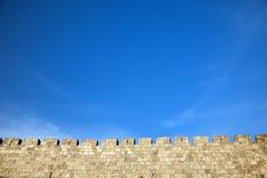 De oude Muur van de Stad van Jeruzalem Royalty-vrije Stock Afbeelding