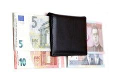 de omschakelings euro uitwisseling 2015 van litaslits januari van de muntstukkenbankbiljetten van Litouwen Stock Fotografie