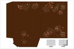 De omslag van de gift met matrijzenbesnoeiing vector illustratie