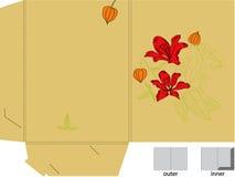 De omslag van de gift met matrijzenbesnoeiing (bloemen) vector illustratie