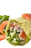 De omslag van de kip met groenten stock afbeelding