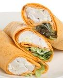 De Omslag van de Tortilla van de Salade van de kip Stock Afbeeldingen