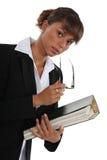 De omslag van de vrouwenholding stock foto