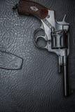 De omslag van het revolverð Leer ¾ Ñ ' Stock Fotografie