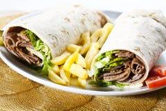 De omslag van Kebab Stock Foto's