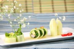 De omslagbroodje van de komkommer Stock Afbeeldingen