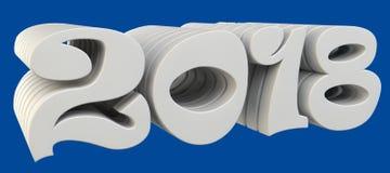 De omvangrijke brieven zijn de tekst ` 2018 `, 3d beeld Royalty-vrije Stock Foto
