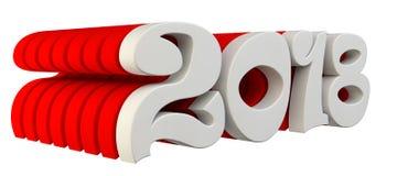 De omvangrijke brieven zijn de tekst ` 2018 `, 3d beeld Stock Fotografie