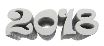 De omvangrijke brieven zijn de tekst ` 2018 `, 3d beeld Stock Afbeelding