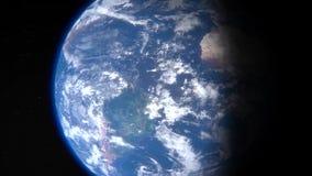 De omwenteling van de aarde in het gezoem stock footage