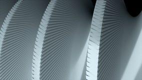 De omwenteling van eenvoudige 3d schroef, sluit omhoog mening, dynamische geeft 3d achtergrond, computer geproduceerde terug bedr stock videobeelden