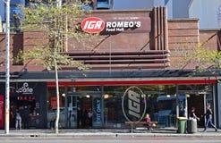 De onafhankelijke Kruideniers van Australië IGA is een Australische ketting van supermarkten die door Metcash worden bezeten stock fotografie